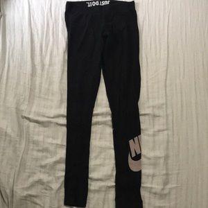 Nike black cotton legging